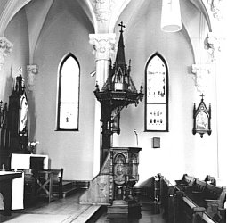 The pulpit of St. Augustine Church, Brandon
