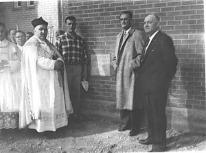 Laying of Cornerstone at St. Viator, Dauphin , 1960